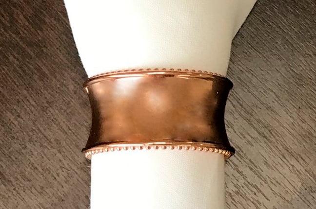 Argola de guardanapo bronze