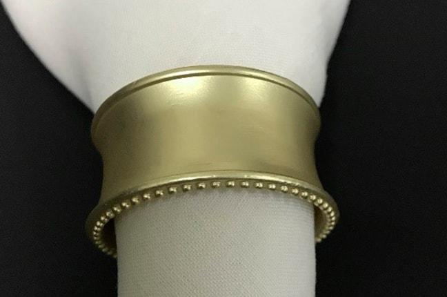 Argola de guardanapo - ouro branco