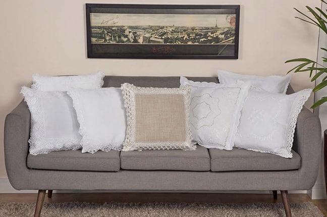 Sofá - almofadas com capa