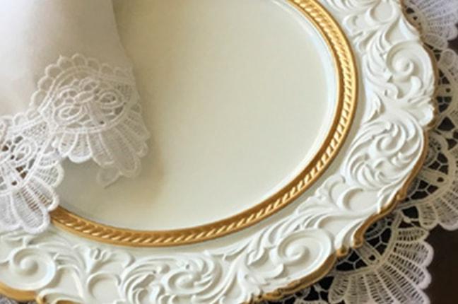 Sousplat Vintage Branco