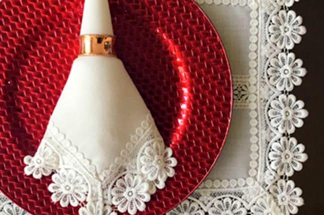 Sousplat vintage vermelho