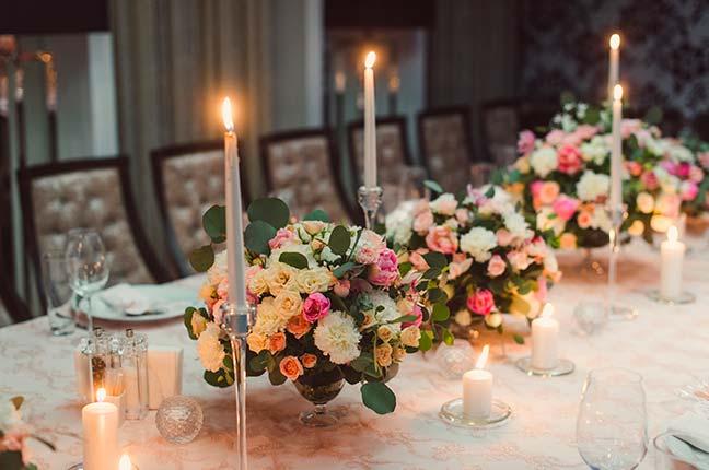 arranjo de flores para a mesa