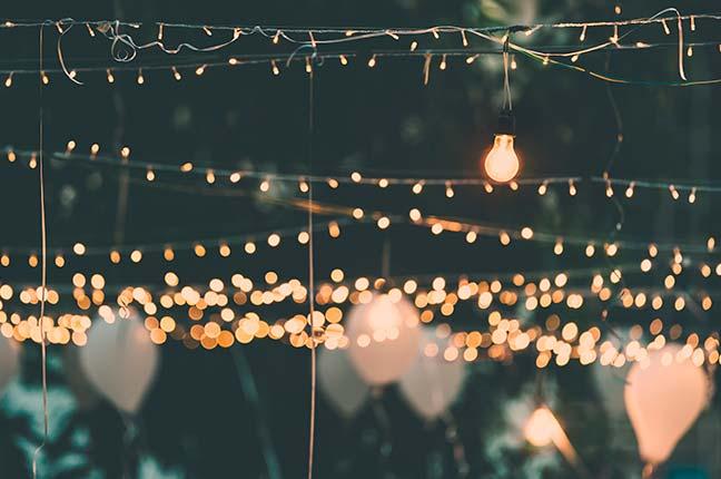 iluminação salão de festas