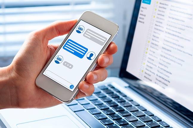 chatbot em celular